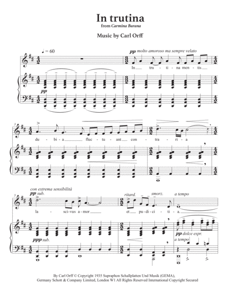 carmina burana in trutina d major music sheet download - topmusicsheet.com  top music sheets