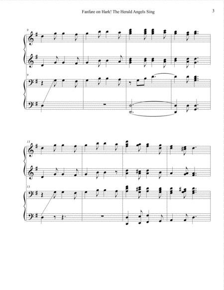 fanfare on hark the herald angels sing music sheet download -  topmusicsheet.com  top music sheets