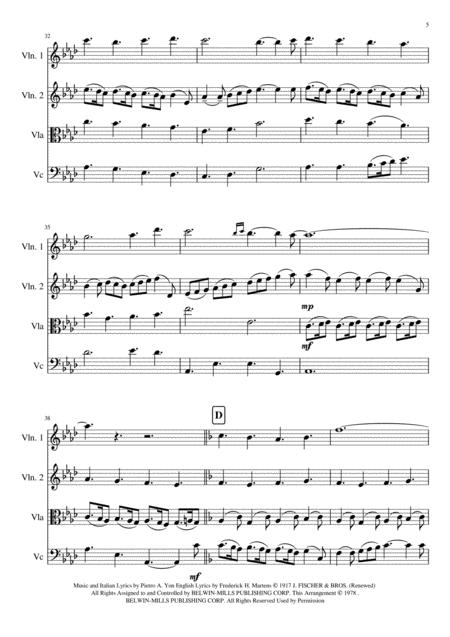 ges bambino the infant jesus christmas song string quartet music sheet  download - topmusicsheet.com  top music sheets