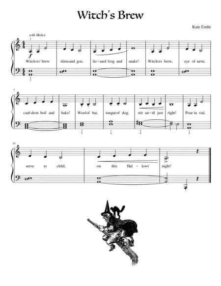 halloween suite i witches brew nosy owls bats in the belfry beginner piano  music sheet download - topmusicsheet.com  top music sheets
