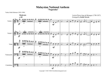 malaysian national anthem for string orchestra mfao world national anthem  series music sheet download - topmusicsheet.com  top music sheets