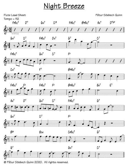 night breeze music sheet download - topmusicsheet.com  top music sheets