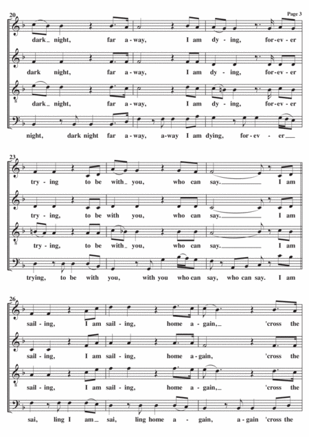 sailing a cappella music sheet download - topmusicsheet.com  top music sheets