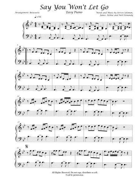 say you wont let go james arthur sheet music easy piano music sheet  download - topmusicsheet.com  top music sheets