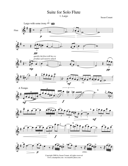 Suite For Solo Flute 1 Largo