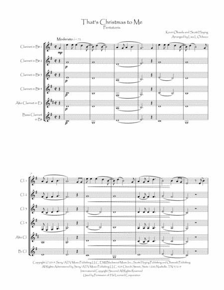 thats christmas to me by pentatonix for clarinet choir music sheet download  - topmusicsheet.com  top music sheets